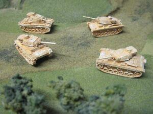 15mm WW II German Pz  III L (50mm) L60 (DAK north africa ) platoon 11 vehiclles
