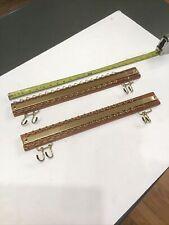 Lot of 2 Vtg Lee Rowan 36 Hook Automatic Tie Rack Wall Mount USA Hanger Jewelry