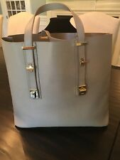 """India Hicks Stunning Leather """"Solitaire"""" Bag In Taupe - Perfection!"""