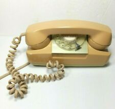 Vintage GTE Automatic Electric Starlite Rotary Wall Phone Beige Telephone
