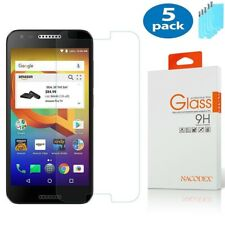 5-Pack Nacodex For Alcatel A30 Plus Tempered Glass Screen Protector