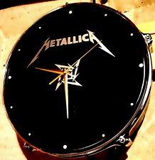 /Metallica  upcycled Drum Clock