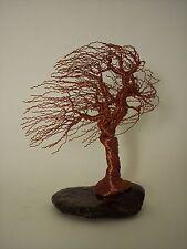 Wire Tree Sculpture / Windswept Bronze / stone / US /Artist