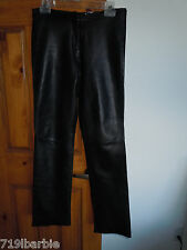 Wilson's Leather women's lined leather pants size 2 - black leather