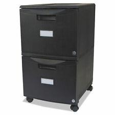 Storex Two Drawer Mobile Filing Cabinet 14 34w X 18 14d X 26h Black 61312b01c