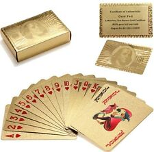 Gold Playing Card 24K Carat Gold Foil Plated