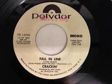 CRACKIN' 45: Fall In Line, 1975 Polydor Records Promo Mono/Stereo