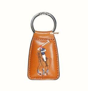 """NWT Polo Ralph Lauren Pony Leather Pony Key Chain, Key Ring, Key Fob """"BIG PONY"""""""