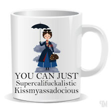 Mary Poppins Mug Funny Coffee Cup Secret Santa Gift Stocking Filler Swearing 467