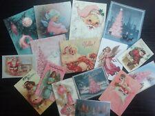B007B:Vintage images of Christmas Greeting Cards - Die Cuts Scrapbooking