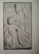 GBA 186 ESTAMPE 1902 VIERGE et L'ENFANT Pinx AGOSTINO DI DUCCIO Héliogravure