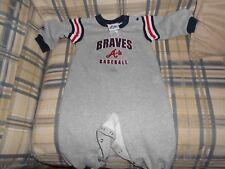 Atlanta Braves gray todler one piece sz 18 mos