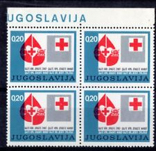 "Federal Republic of Yugoslavia:- Block of 4-Superb MNH ""Red Cross Emblems"" Issue"