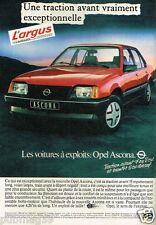 Publicité advertising 1982 Opel Ascona
