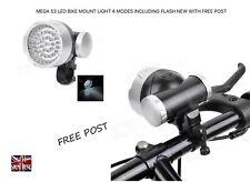 MEGA 53 LED BIKE MOUNT LIGHT 4 MODES INCLUDING FLASH NEW WITH FREE POST
