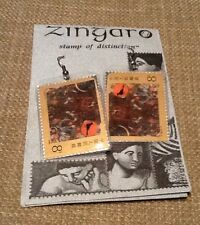 Zingaro Stamp Earrings, with real laminated stamps NEW