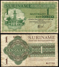 Pick #116e 1 Gulden 1979 Suriname Fine