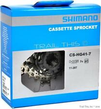 Shimano CS-HG41 7-Speed 11-28T HyperGlide HG Road/MTB/Hybrid Bicycle Cassette