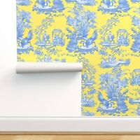Peel-and-Stick Removable Wallpaper Citron Presse Lemon Yellow Provence Toile