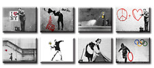 TIME4BILD BANKSY There is always love LIEBE 8x40x30cm BILDER LEINWAND GICLEE ART