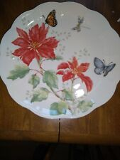 """NEW lenox butterfly meadow Christmas Dinner Plate 11"""""""