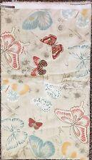 "COVINGTON Papillon Butterflies Blue Orange Cream Fabric 3.5 YARDS 54"" Home Decor"