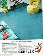 PUBLICITE ADVERTISING 115  1966  GERFLEX  revetement de sol type ardoise