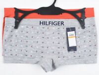 TOMMY HILFIGER 2-pk Women's BOYSHORT Briefs, Knickers, Grey/Red, size S