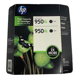 HP Genuine 950XL TWIN PACK Black Ink 1 Pack of 2 Cartridges - EXP: 2013