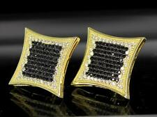 XL 21mm Kite Style Micro Pave CZ HipHop Screw Back Stud Icy Mens Bling Earrings