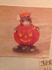 Dean Griff Charming Tails Maxine's Pumpkin Costume Halloween mouse original box