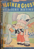 Mother Goose Nursery Rhymes 1934 Whitman (B/W Illustrations)