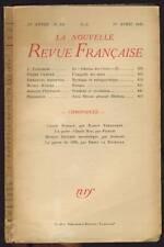 NOUVELLE REVUE FRANCAISE HENRI THOMAS L.EMIE  351 1943