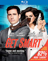 Get Smart Blu-ray Movie Steve Carell Anne Hathaway Dwayne The Rock Johnson PG-13