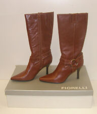 FIORELLI WOMENS POINTY WINTER BOOTS TAN 11 LEATHER LADIES MATANA WSK rrp $NIB