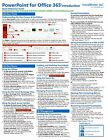 PowerPoint 365 Training Guide Quick Reference Card 4 Page Cheat Sheet Help