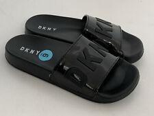 NEW! DONNA KARAN NEW YORK DKNY BLACK SLIP-ON SLIDES FLIP-FLOPS SLIPPERS 6 36