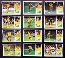 Norwich City FKS 1973-74 il meraviglioso mondo delle stelle del calcio 12 X ADESIVI
