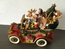 Nwt Fitz & Floyd Musical Santa'S Classic Car With Tune We Wish You A Merry Xmas