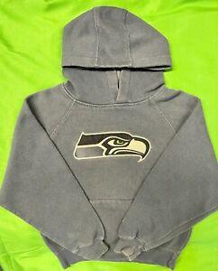 W485/275 NFL Seattle Seahawks Reebok Pullover Hoodie Kids' Medium 5-6