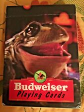 Vintage 1966 Budweiser Frog Playing Cards-Open Box, Cards In Great Shape