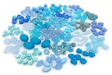 170g Czech Glass Bead Mix, Assorted Shape, Star, Rondelle, Cube, Nugget, Round