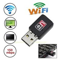 150M Mini USB 802.11n/g/b WiFi Wireless Laptop LAN Card Adapter with CD Driver