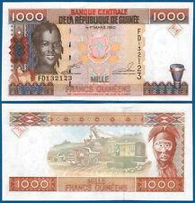 GUINEA 1000 Francs 1998 UNC P. 37