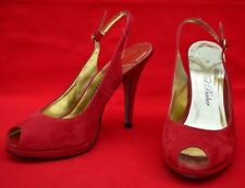 TED BAKER!  STRAPPY FLAME COLOURED SUEDE LEATHER STILETTOS - NO BOX!