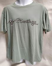 Men's Ford Mustang Chrome Graphic Tee Shirt Out Of Bounds Gray Green  Sz. XL A30