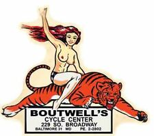 Boutwell's Speed Shop  Retro  Hot Rod  Travel Decal  bumper sticker Motorcycle