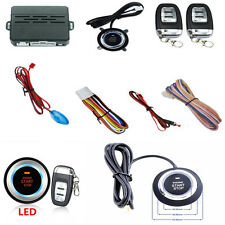 Car Truck Audible Alarm System Security Ignition Engine Start Push Button Remote