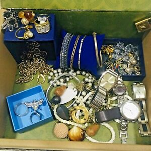 Jewellery & Things Bulk Lot Gold Silver Costume Fancy Fine Vintage Contemporary