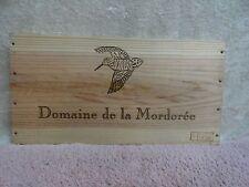 DOMAINE DE LA  MORDOREE WOOD WINE PANEL BIRD